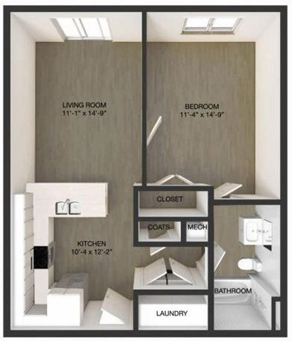 floor plan of one bedroom apartment in wilmington de
