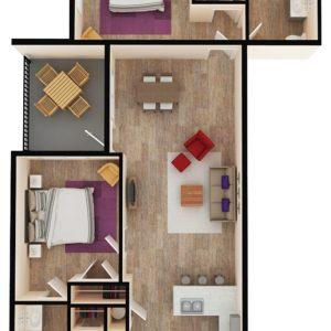 floor plan of apartment in wilmington de