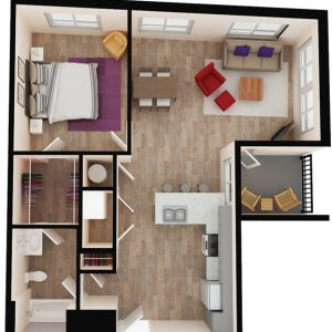 floor plan of apartment in wilmington de