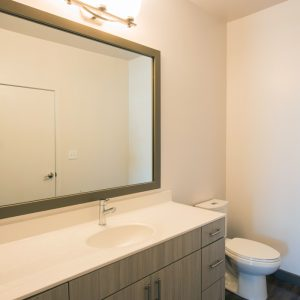 bathroom vanity at apartment in wilmington de