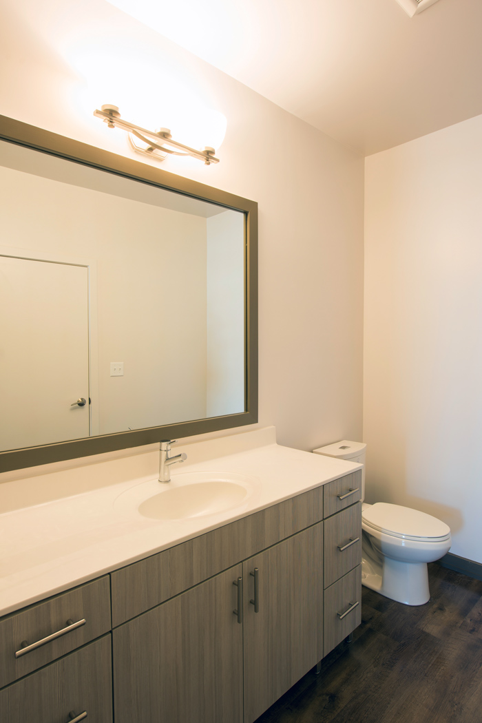 bathroom vanity at apartment in wilmington de