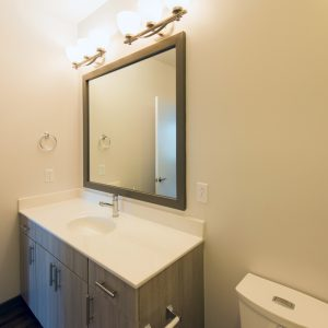 bathroom at apartment in wilmington de