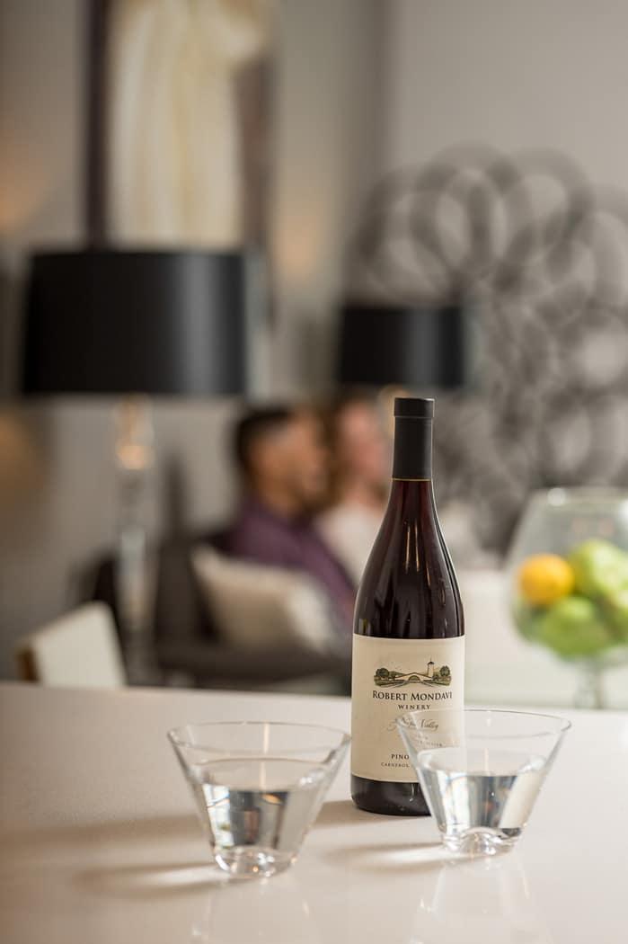 bottle of wine in kitchen of apartment in wilmington de