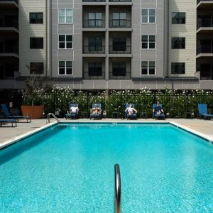 community pool at apartment in wilmington de