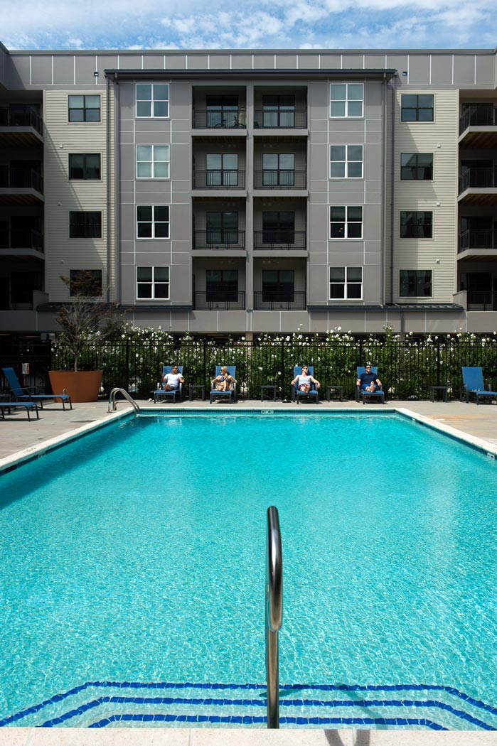 community pool at apartment in wilmington de