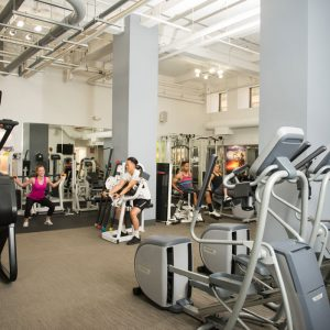 residents exercising at gym of apartment in wilmington de