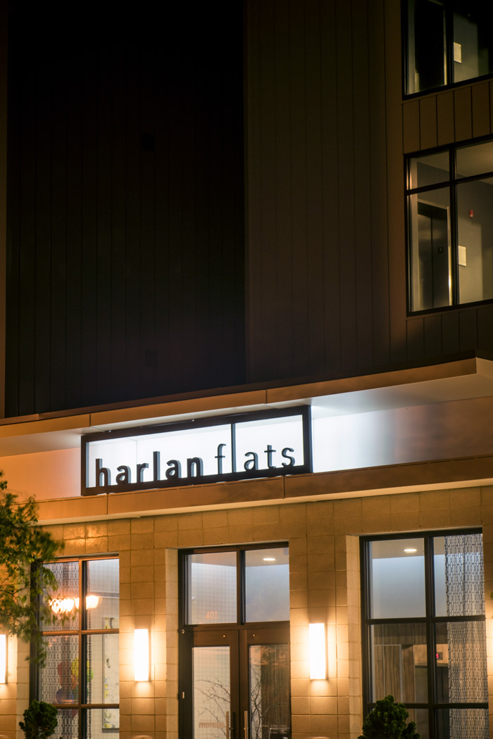 entrance to harlan flats apartments in wilmington de