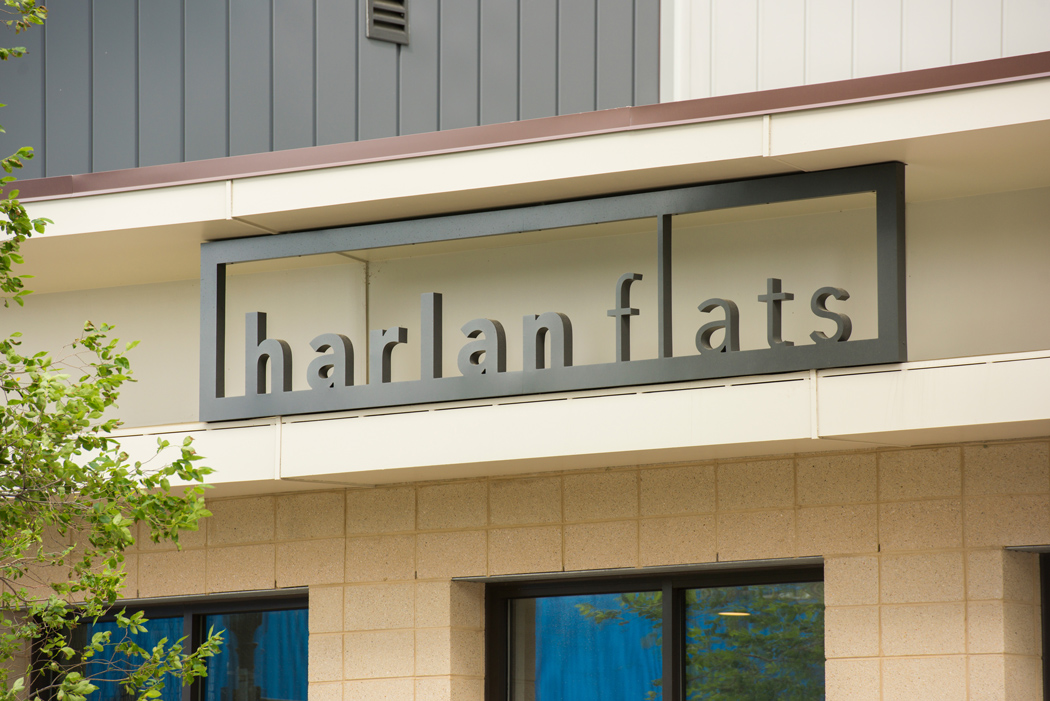 entrance to harlan flats apartments in wilmington de
