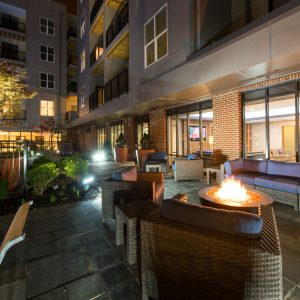 outdoor lounge at apartment in wilmington de