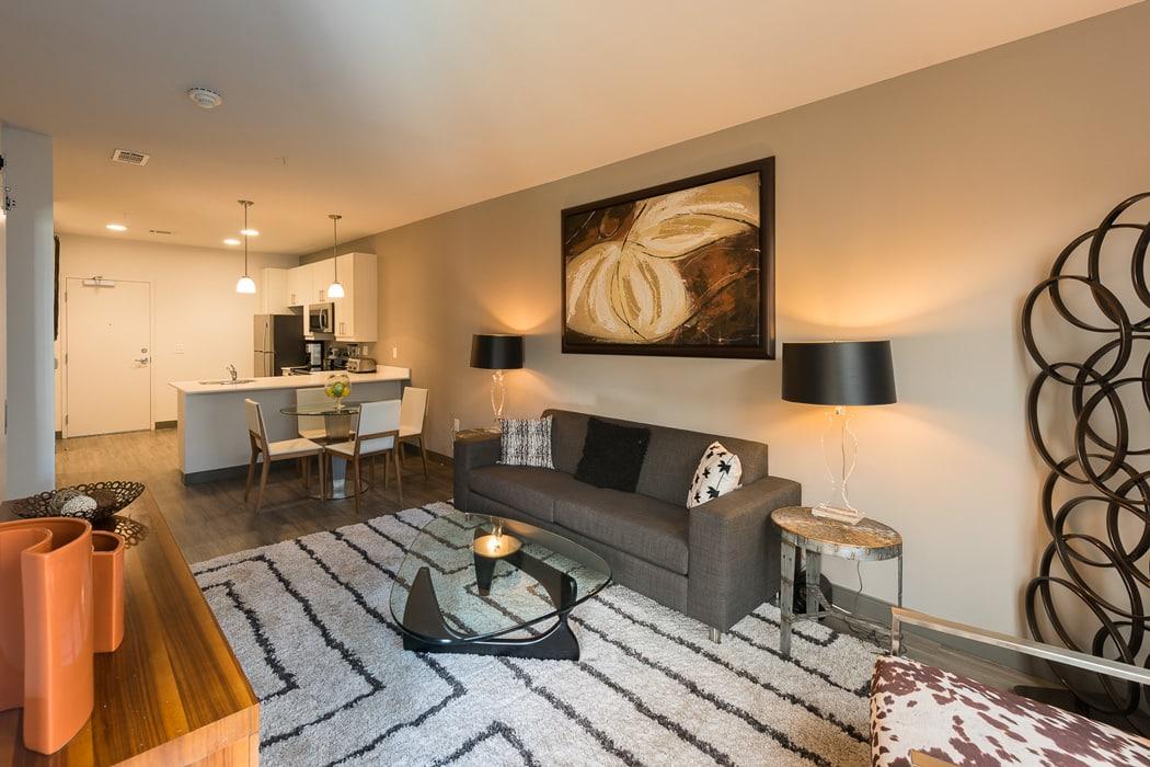 living room interior of apartment in wilmington de