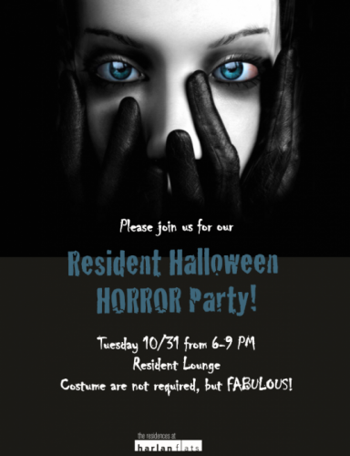 hf halloween flyer the residences at harlan flats