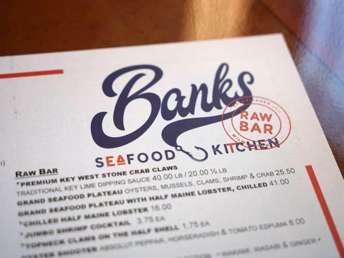 Banks Seafood Menu