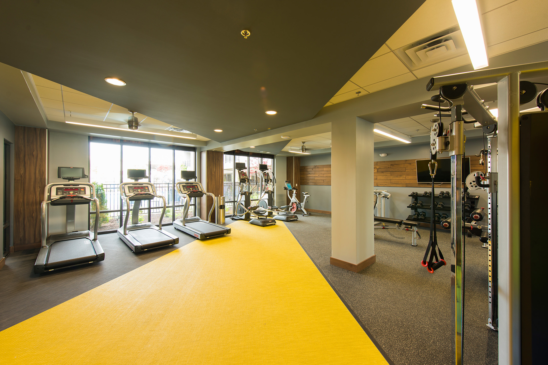 Fully equipped fitness center in Downtown Wilmington, DE apartments