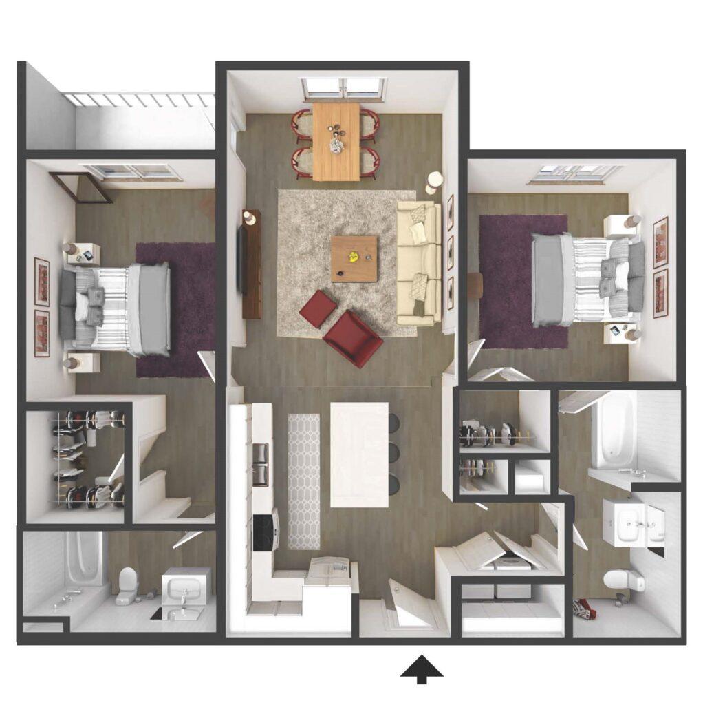Christina Landing riverfront two bedroom apartment in DE at Harlan Flats