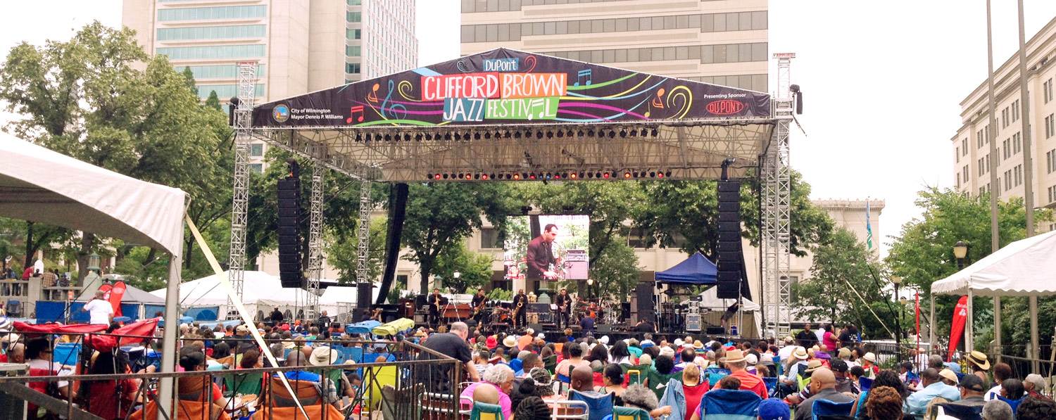 Festival in downtown Wilmington, DE near the Residences at Harlan Flats